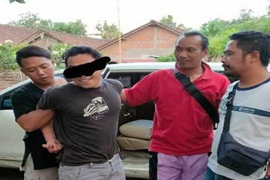 Penebas Eks Pekerja Migran Diciduk saat Kepalanya Oleng, Lihat Tampangnya - JPNN.com Bali