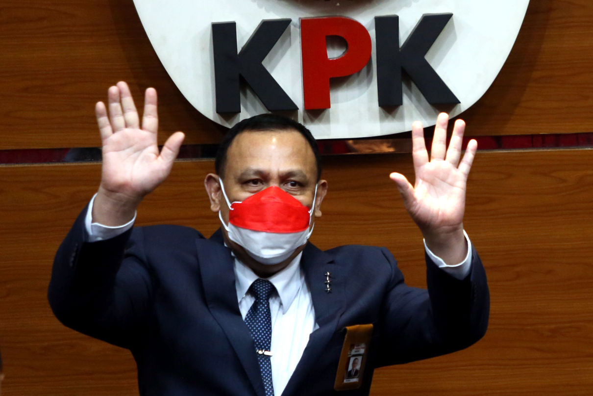BEM SI Geruduk Gedung KPK, Firli Bahuri Ada di Mana? - JPNN.com