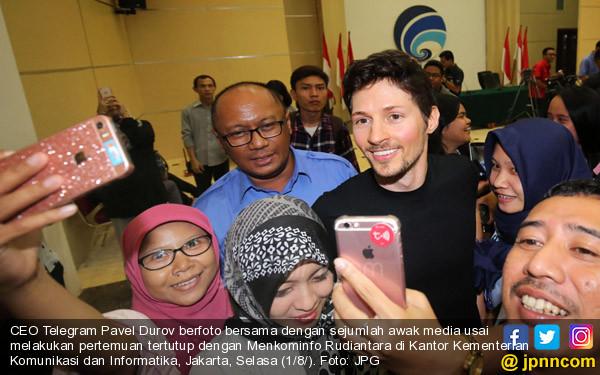 Bos Telegram Pavel Durov, ke Indonesia - JPNN.COM