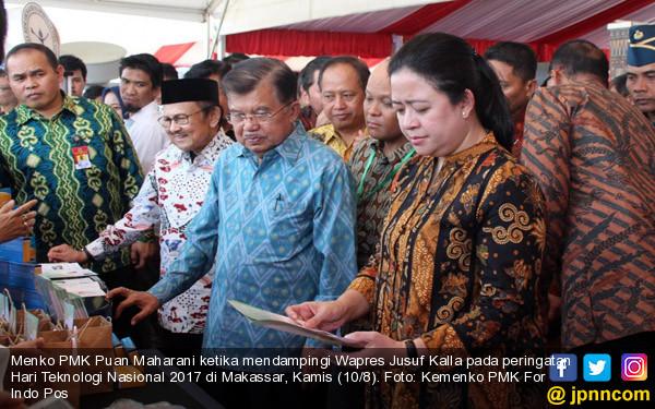 JK dan BJ Habibie Hadiri Hari Teknologi Nasional di Makassar - JPNN.COM