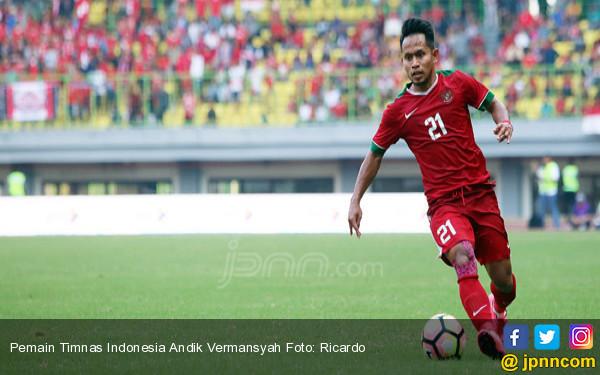 Pemain Timnas Indonesia Andik Vermansyah - JPNN.COM
