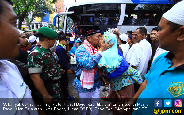 Sambut Kedatangan Jamaah Haji di Kota Bogor - JPNN.COM