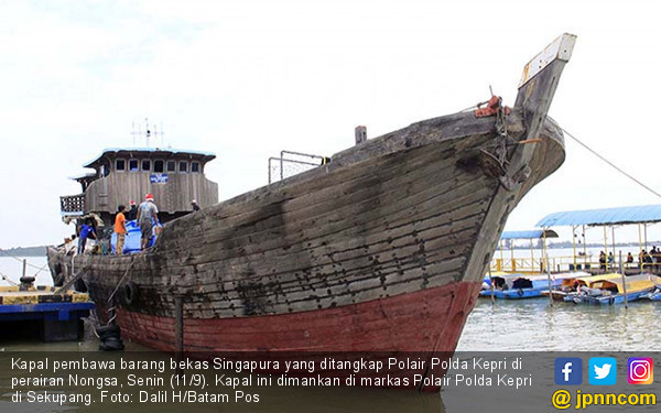 Polda Kepri Gagalkan Penyelundupan Barang Bekas - JPNN.COM