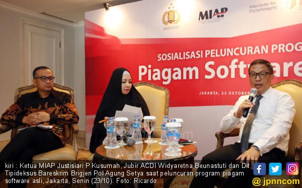 Peluncuran Program Piagam Software Asli - JPNN.COM