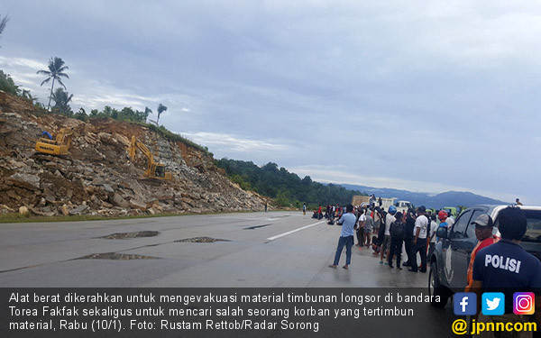 Bandara Torea Fakfak Tertimbun Longsor - JPNN.COM
