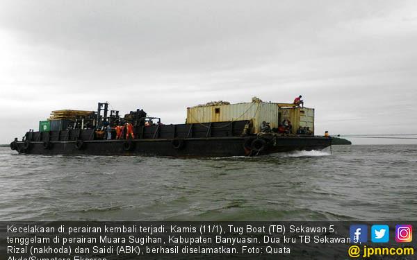 Kecelakaan Kapal Tug Boat (TB) Sekawan 5 - JPNN.COM