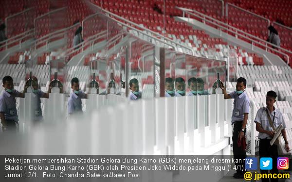Persiapan Stadion GBK Jelang Diresmikan - JPNN.COM