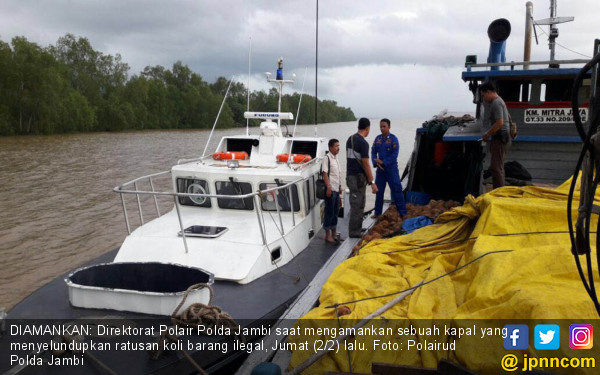Polair Polda Jambi Gagalkan Aksi Penyelundupan - JPNN.COM