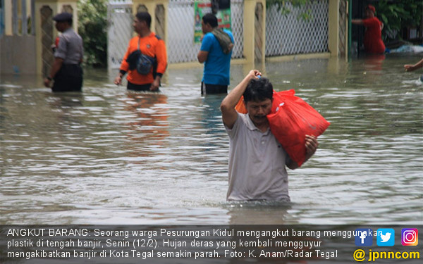Kembali Diguyur Hujan, Kota Tegal Terendam - JPNN.COM