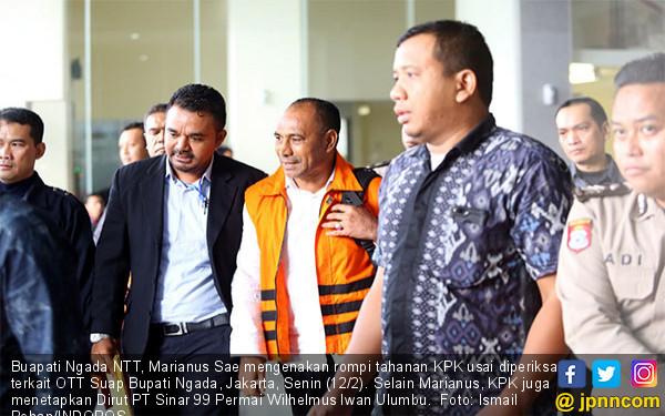 KPK Tahan Buapati Ngada NTT Marianus Sae - JPNN.COM