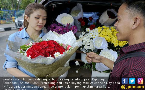 Valentine's Day, Harga Bunga Mawar Melonjak - JPNN.COM