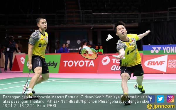 Marcus Fernaldi Gideon / Kevin Sanjaya Sukamuljo - JPNN.COM