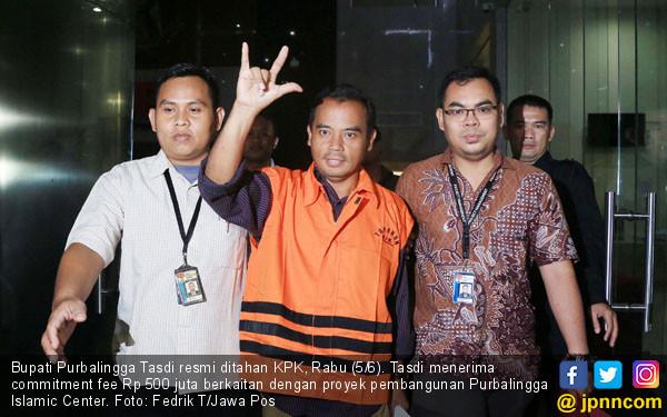 KPK Resmi Tahan Bupati Purbalingga - JPNN.COM
