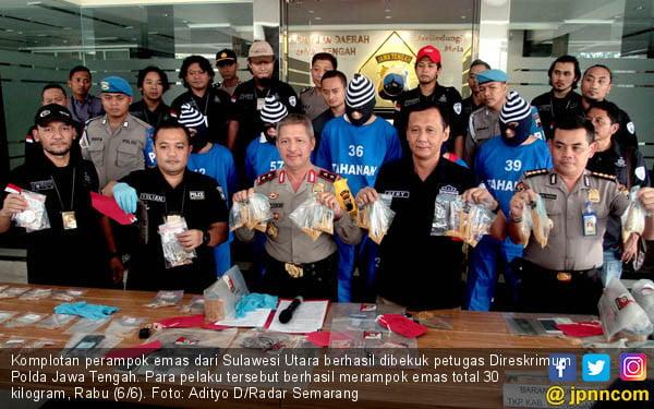 Polda Jateng Sikat Komplotan Pencuri Emas - JPNN.COM