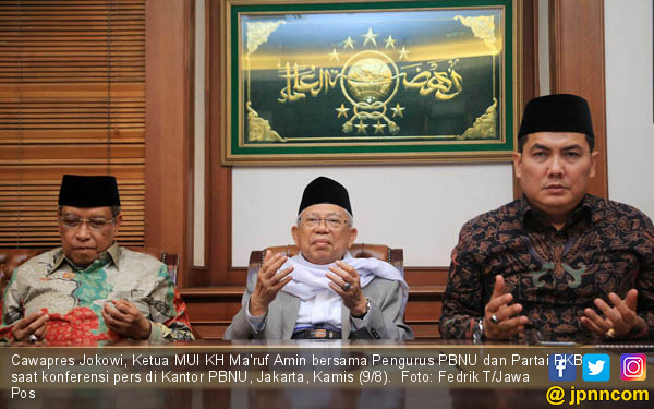 Maju Cawapres, KH Ma'ruf Amin Konpers - JPNN.COM