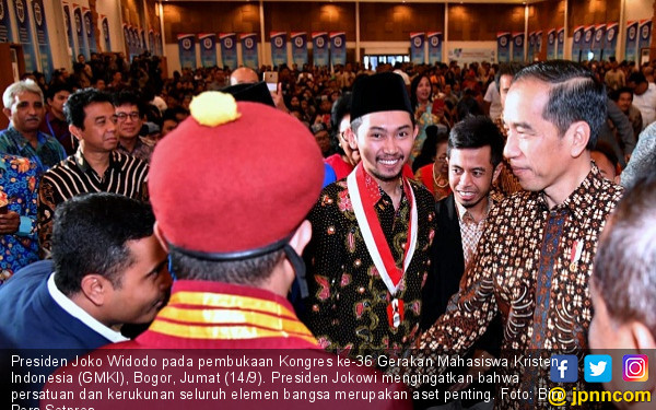 Presiden Jokowi Hadiri Kongres GMKI - JPNN.COM