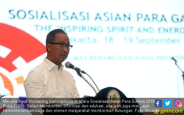 Agus Gumiwang Sosialisasikan Asian Para Games 2018 - JPNN.COM
