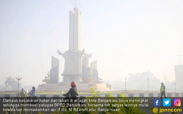 Hutan dan Lahan Terbakar, Banjarbaru Terimbas - JPNN.COM