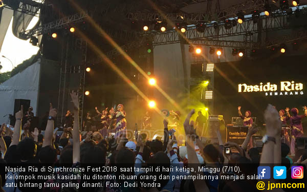 Nasida Ria di Tampil Synchronize Fest 2018 - JPNN.COM