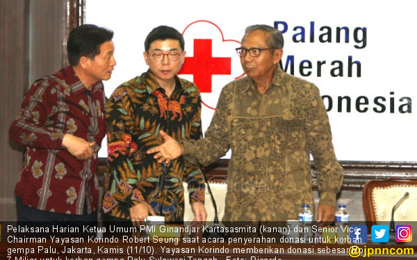 Melalui PMI, Yayasan Korindo Sumbang 7 Miliar untuk Palu - JPNN.COM