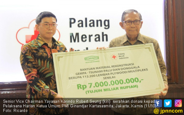 Korindo Sumbang Rp 7 Miliar untuk Korban Gempa Sulteng - JPNN.COM