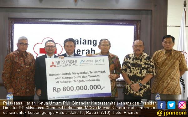 PT Mitsubishi Chemical Indonesia Serahkan Bantuan Korban Gempa Ke PMI - JPNN.COM