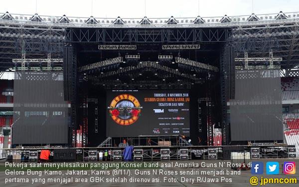 Persiapan Konser Guns N Roses - JPNN.COM