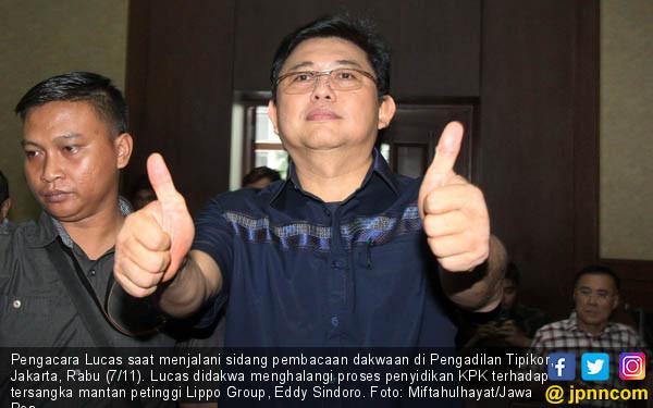 Lucas Jalani Sidang Dakwaan - JPNN.COM