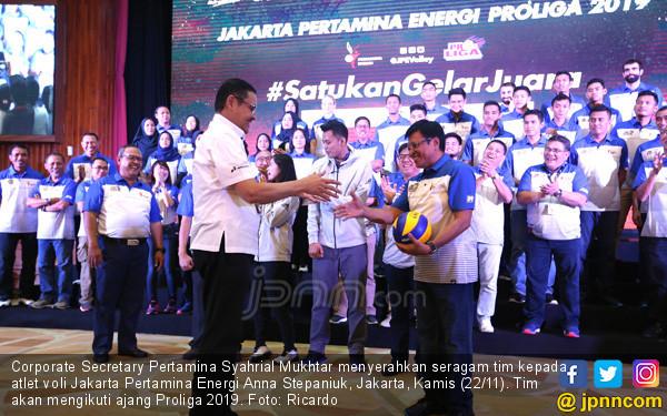 Peluncuran Tim Jakarta Pertamina Energi - JPNN.COM