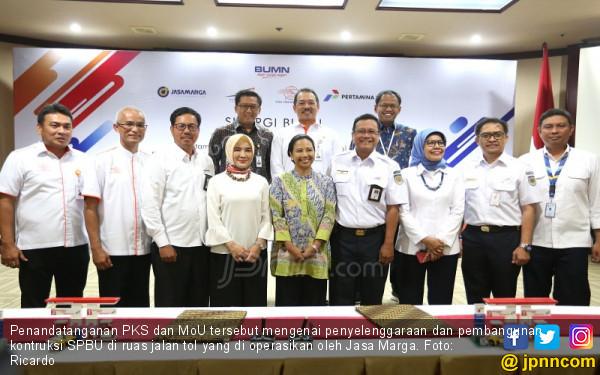 Sinergi BUMN antara Pertamina, Jasa Marga, Pos Indonesia dan KAI - JPNN.COM