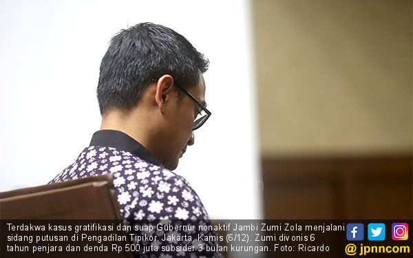 Hakim Vonis Zumi Zola 6 Tahun Bui - JPNN.COM