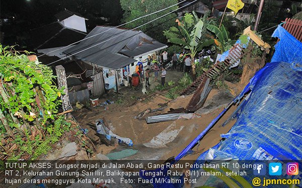 Longsor Terjadi di Gunung Sari Ilir Balikpapan - JPNN.COM