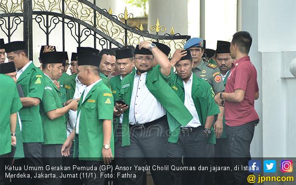 Gus Yaqut dan Pengurus GP Ansor ke Istana - JPNN.COM