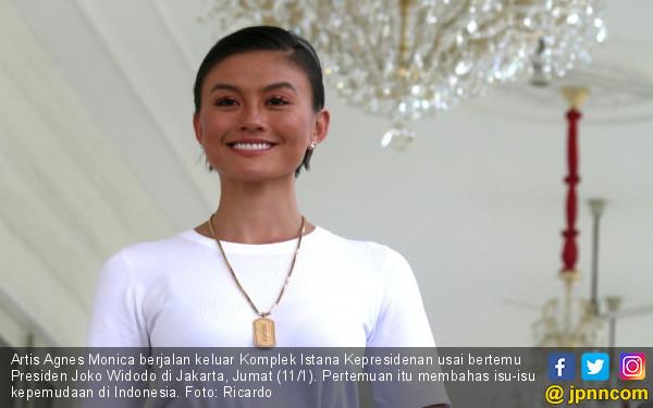 Agnes Monica Bertemu Presiden Jokowi - JPNN.COM