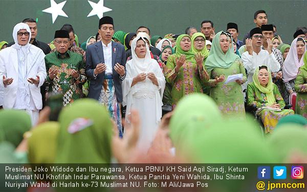 Jokowi Hadiri Harlah ke - 73 Muslimat NU - JPNN.COM
