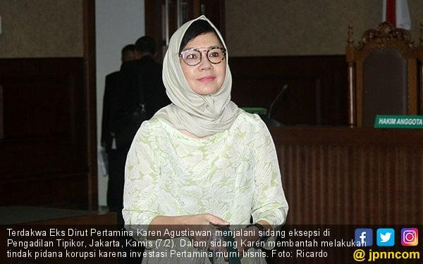 Karen Agustiawan Jalani Sidang Eksepsi - JPNN.COM