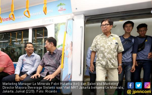Le Minerale Sponsori MRT Jakarta, Sekaligus Edukasi Kesehatan - JPNN.COM