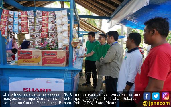 Pasca Bencana Alam, Sharp Hidupkan Pandeglang Lewat Warung Inisiatif - JPNN.COM