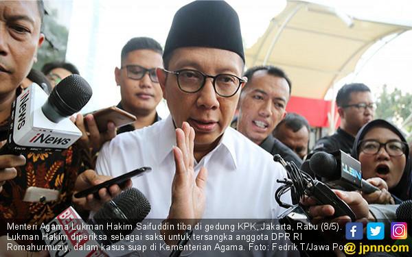 Kasus Romahurmuziy Facebook: Menag Lukman Hakim Diperiksa KPK