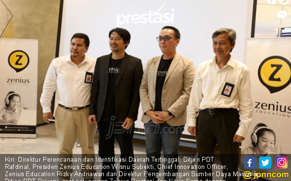 Peluncuran Zenius Prestasi dan Kerja Sama dengan Kemendes PDTT - JPNN.COM