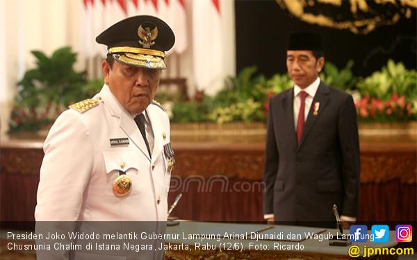 Presiden Jokowi Lantik Gubernur dan Wagub Lampung - JPNN.COM