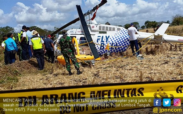 KNKT Selidiki Jatuhnya Helikopter di Sawah - JPNN.COM