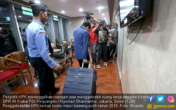 KPK Geledah Ruang Anggota Komisi VI DPR - JPNN.COM