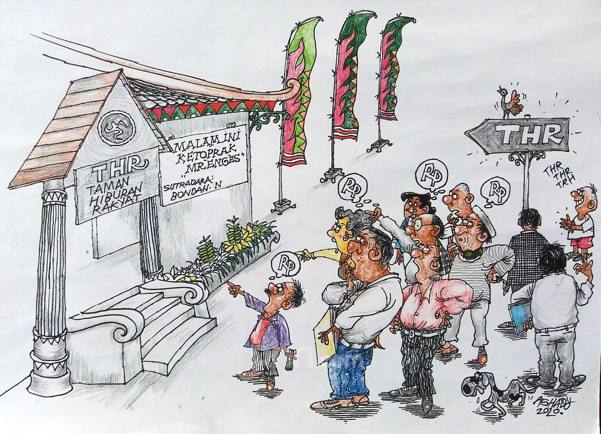 THR. Karikatur oleh Ashady - JPNN.com