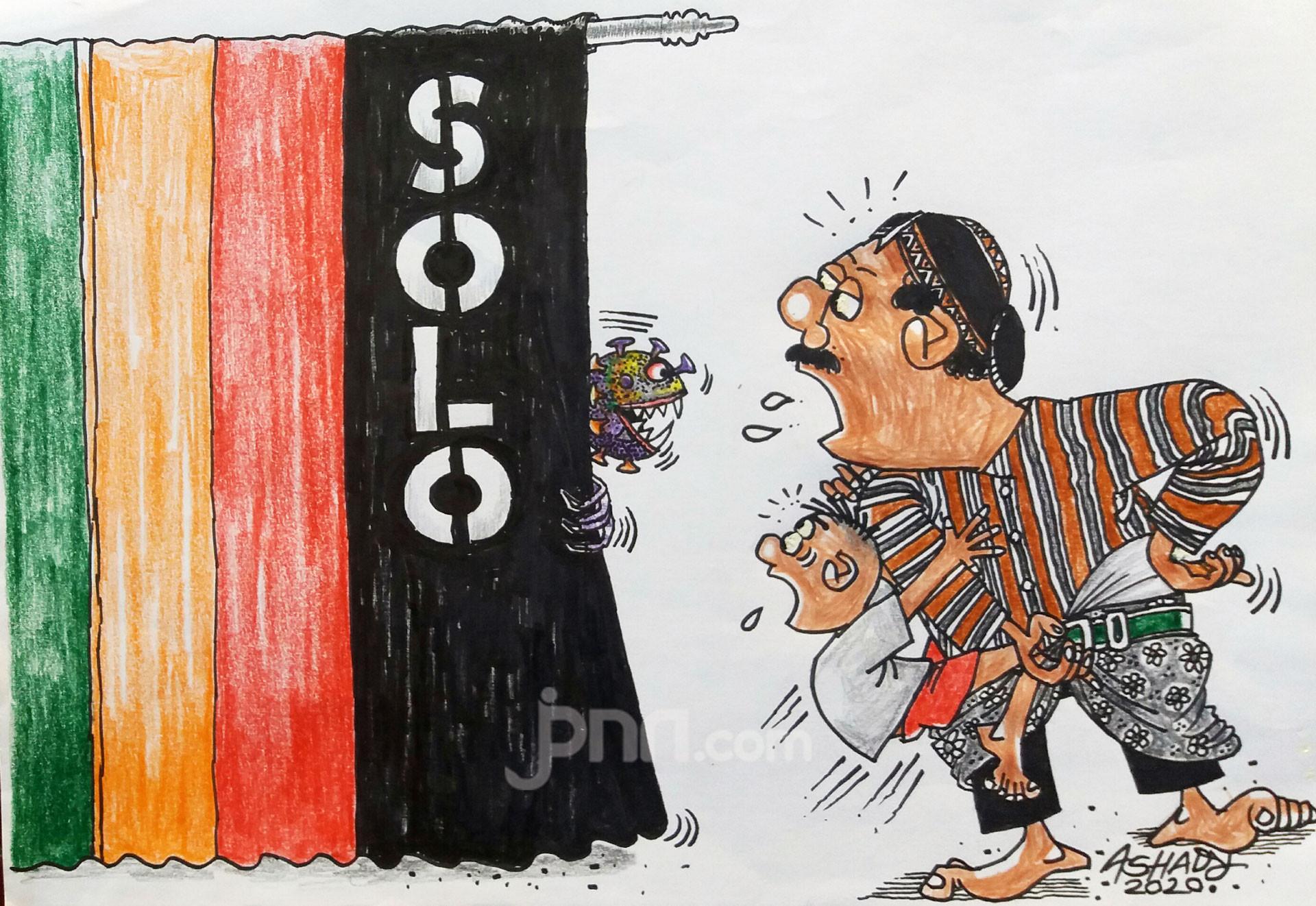 Solo Zona Hitam. Karikatur oleh Ashady - JPNN.com