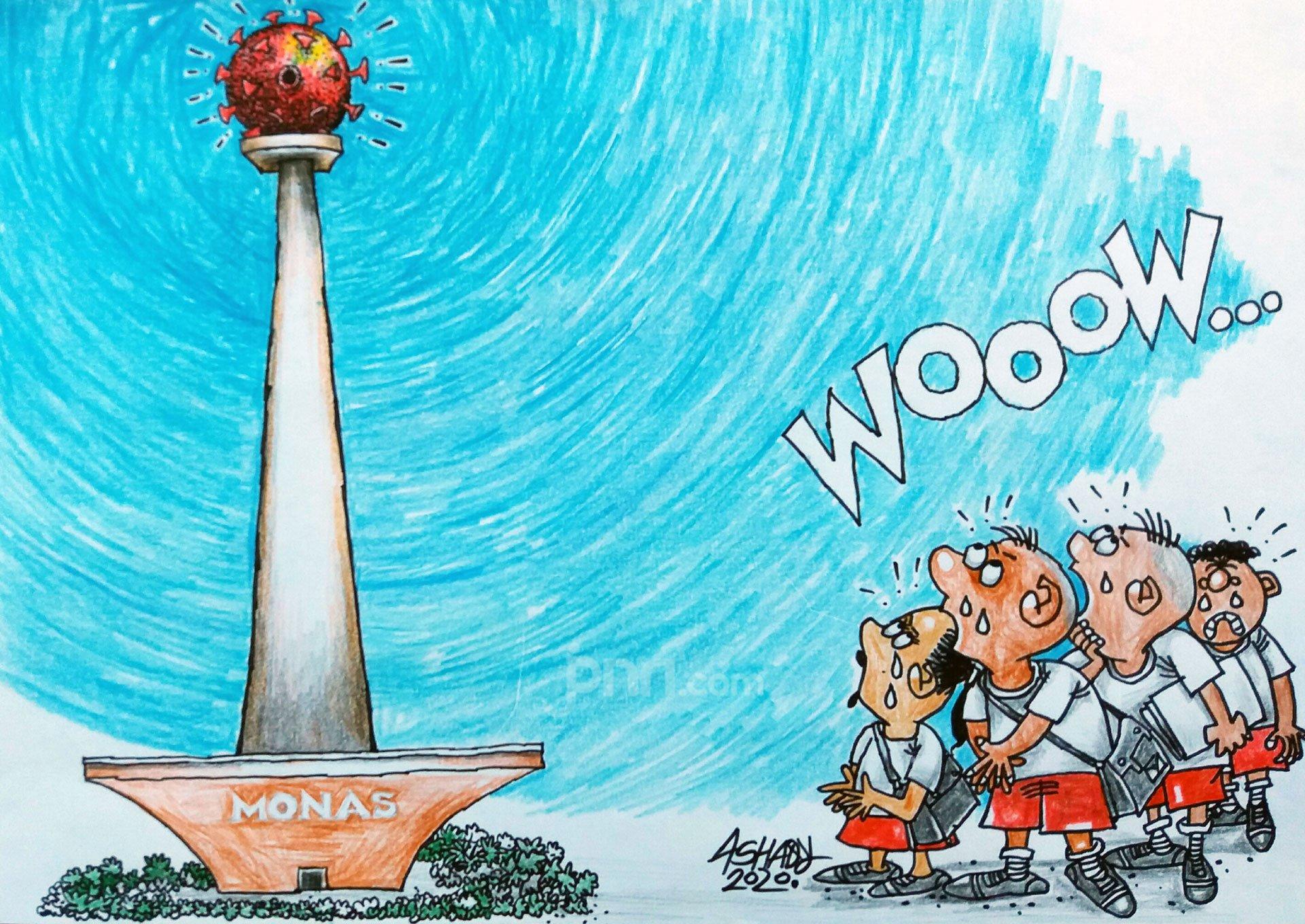 Jakarta Zona Merah. Karikatur oleh Ashady - JPNN.com