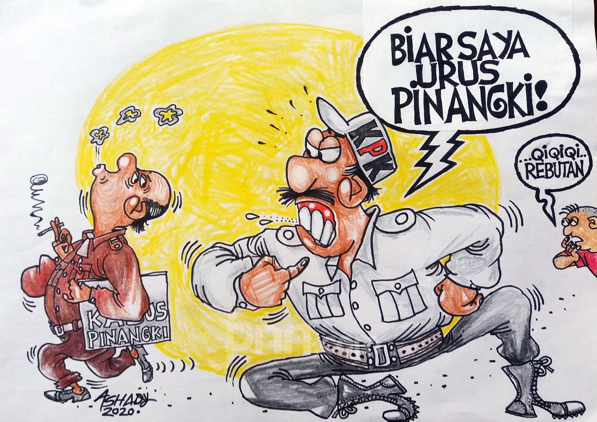 Rebutan Pinangki? Karikatur oleh Ashady - JPNN.com