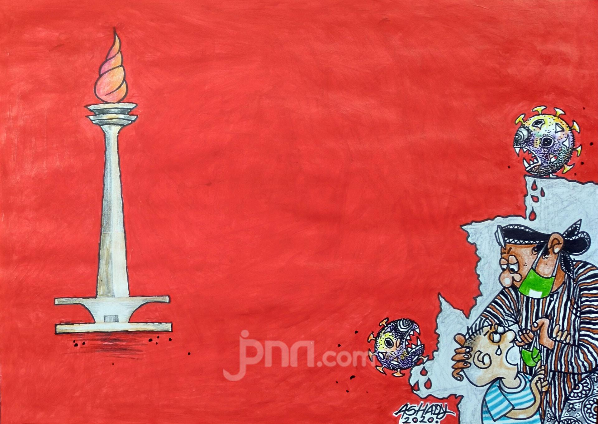 Jakarta Zona Merah Karikatur oleh Ashady - JPNN.com