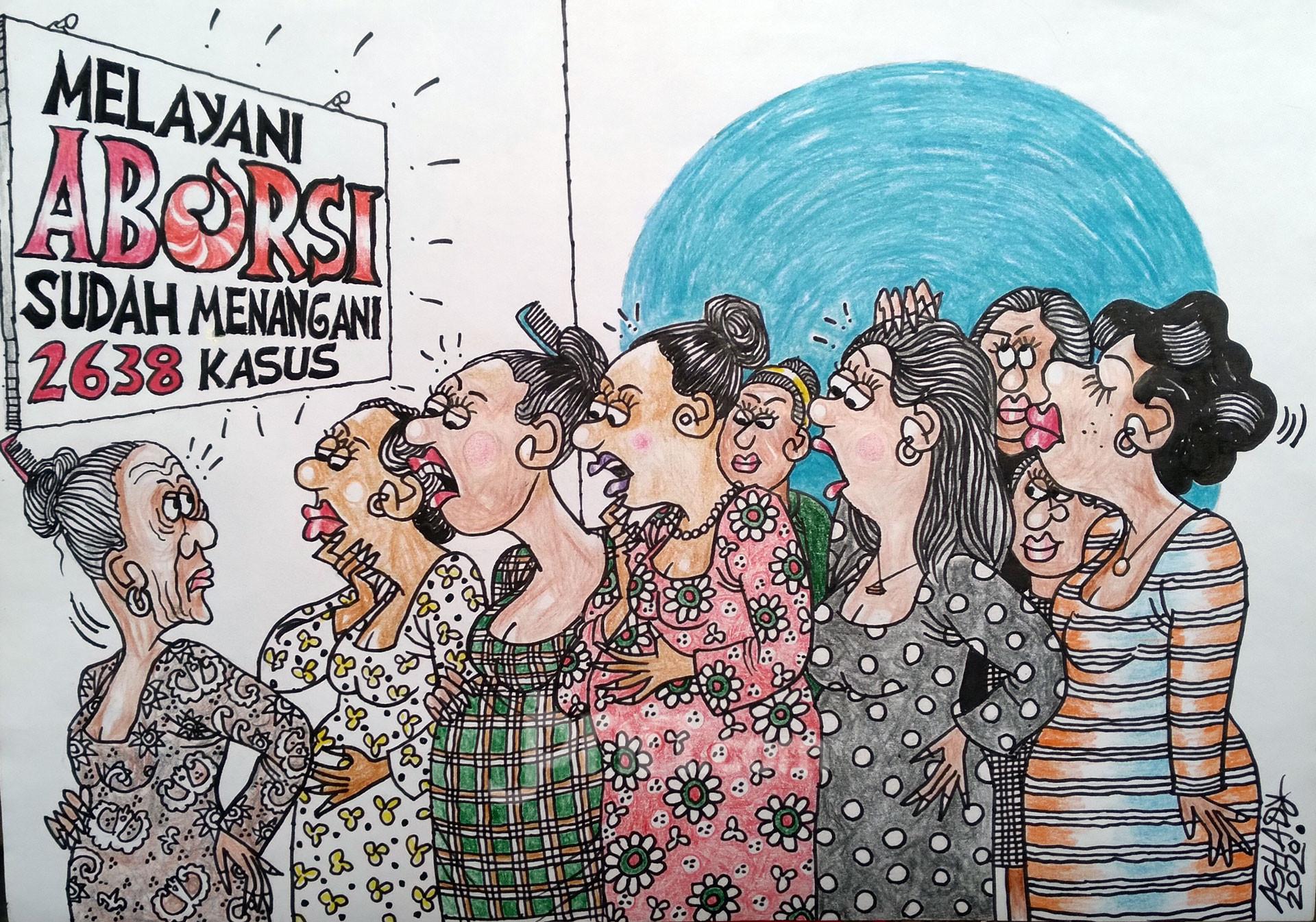 Aborsi. Karikatur oleh Ashady - JPNN.com