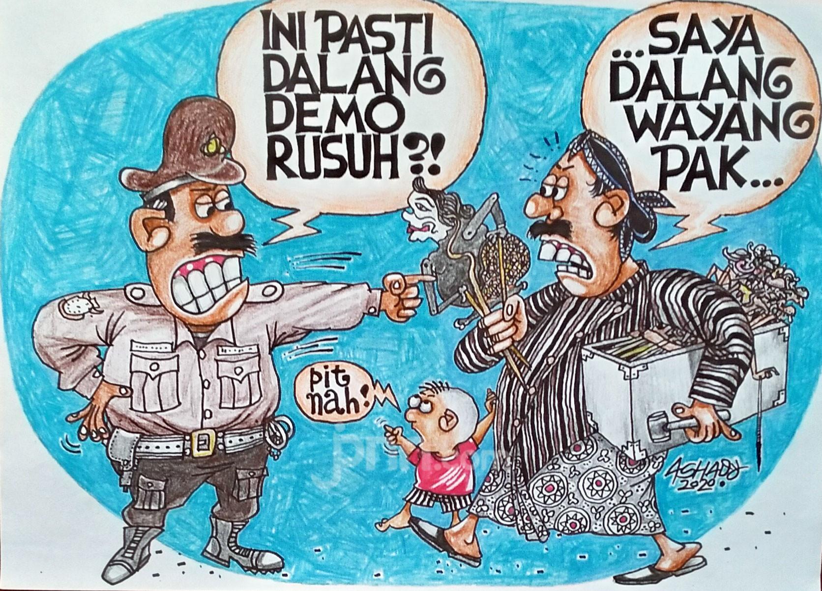 Siapa Dalang Demo Rusuh? Karikatur oleh Ashady - JPNN.com